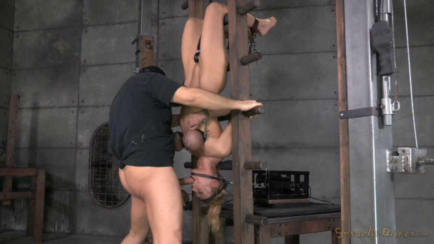 Inverted With Automatic Cocksucking Device (26 Mar 2014) Sexually Broken