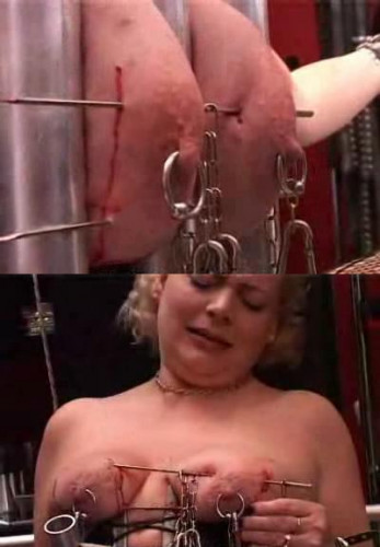 Pain delight for young slave girl