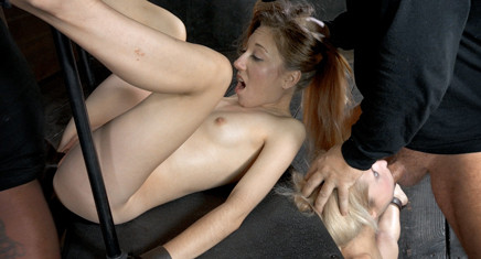 Two Blonde Pixies Odette Delacroix And Emma Haize Tag Teamed By Cock Brutal Deep Throat Squirting