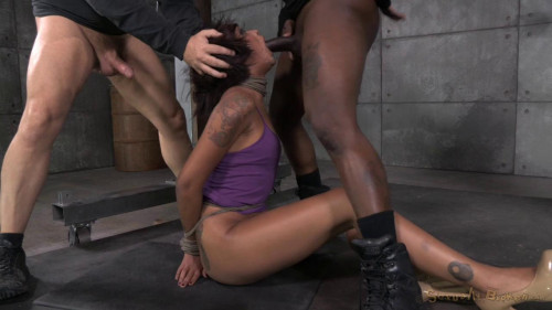 Sexy Skin Diamond gets bound, fucked, stuffed full of cock and brutally deepthroated