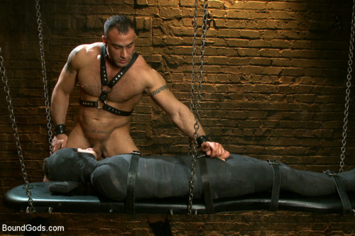 Kink Bound Gods - 19 year old boy gets his BDSM cherry popped by Spencer Reed