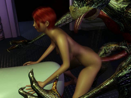 3d Babe fucked by a stranger and pregnant by him