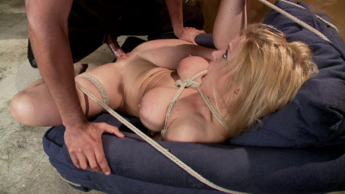 Blonde big tits ass fucked in tight bondage