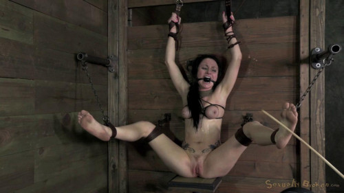 Veruca James shackled and chained, facefucked with brutal deep throating (2014)