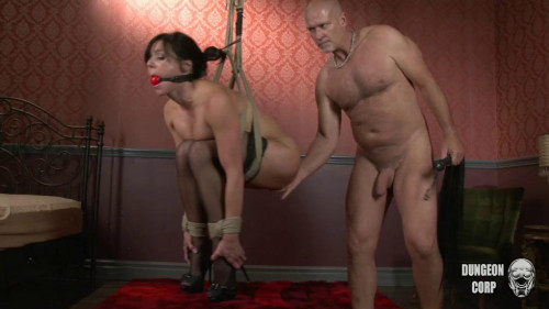 Muscle gangbang drilled sissy