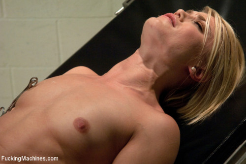 Hot Blond Gymnast Stretched and Fucked By Machines Until She SQUIRTS