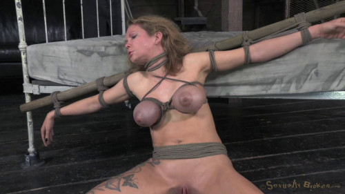 Big breasted Rain DeGrey takes on 10 inches of bbc and bondage (2014)