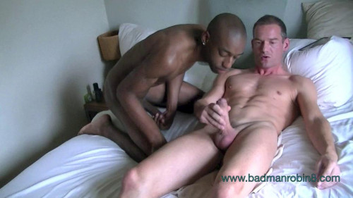 Jay 2 Huge black cock bareback fuck and cum in mouth